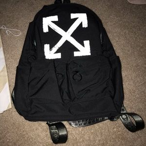Off White Canvas Backpack